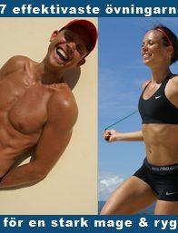 27 effektivaste övningarna for en stark mage och rygg
