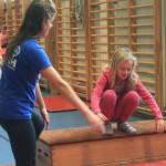Akrobatikträning i Gärdeshallen